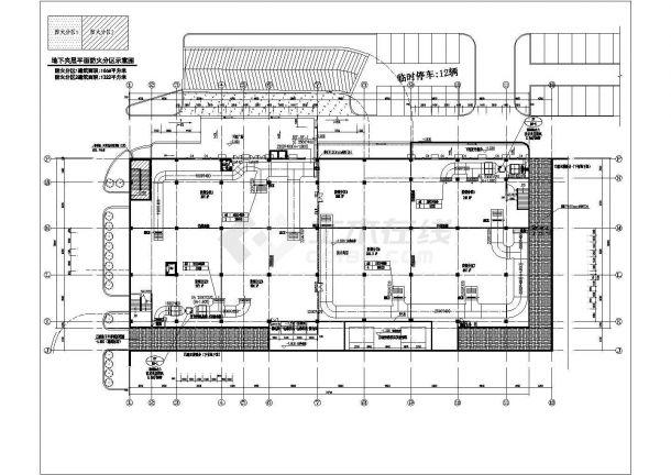 办公楼设计_某四层砖混结构办公楼改扩建工程空调通风排烟系统设计cad全套方案图(多联机系统)(含设计施工说明)-图一
