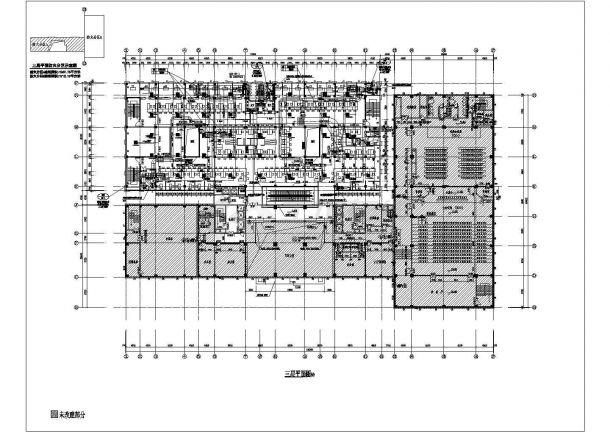 办公楼设计_某四层砖混结构办公楼改扩建工程空调通风排烟系统设计cad全套方案图(多联机系统)(含设计施工说明)-图二