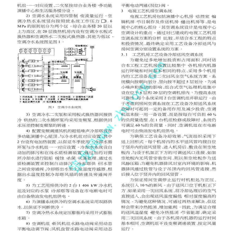 北京电视中心暖通空调设计-图二