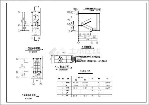 某城市地上两层钢筋混凝土公共区域建筑设计cad图(含设计说明)-图二