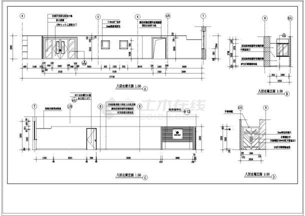 办公楼设计_某地八层办公楼全套设计施工cad图纸-图二