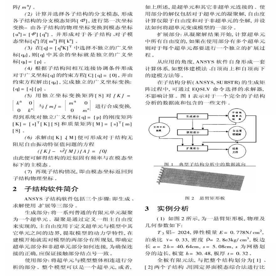 ANSYS软件应用之子结构方法的应用-图二