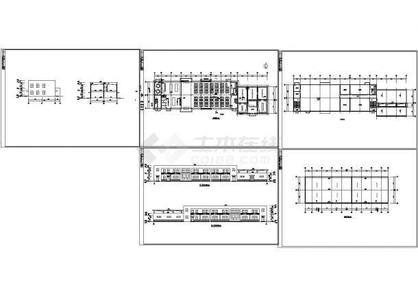 小型食堂浴室建筑设计方案CAD图-图一