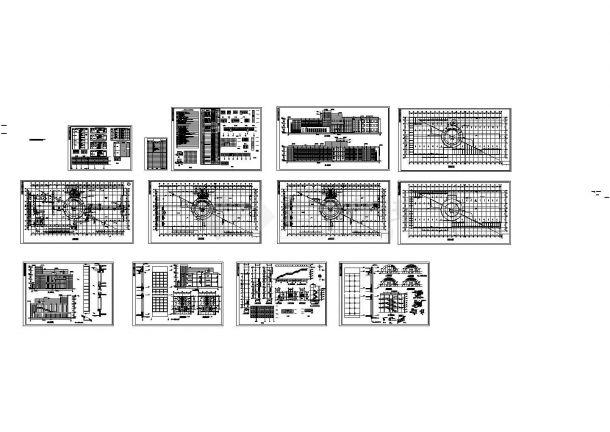 某市商业中心五层办公楼建筑设计施工图-图一