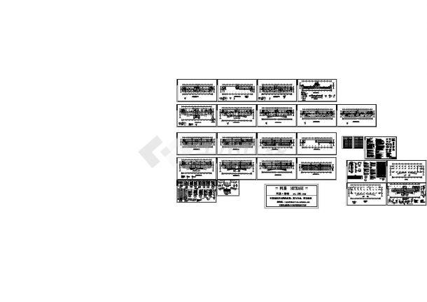 某七层框架结构办公楼设计cad全套结构施工图(含设计说明,含建筑设计)-图一