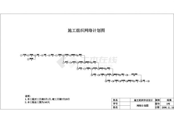 3294.6平米五层框架综合教学楼工程量计算及施工组织设计方案(含建筑结构图、平面图、进度图、网络图)-图二