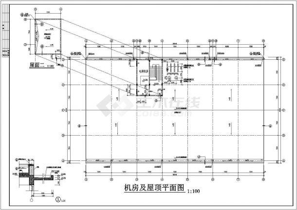 某五层电子综合楼框架结构设计cad施工图纸-图一