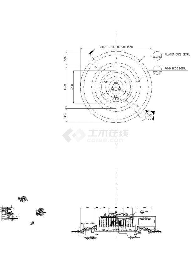 深圳某地卢峰翠苑全套景观设计施工cad图(含平面布置图)-图一