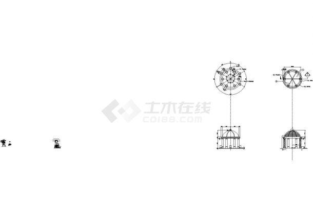 深圳某地卢峰翠苑全套景观设计施工cad图(含平面布置图)-图二