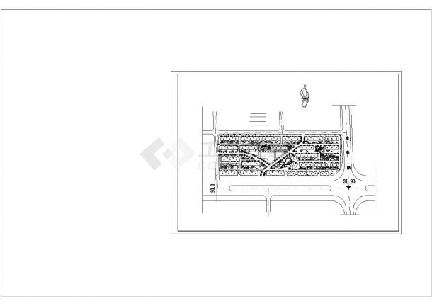 某长方形小区规划总平面图张CAD图纸设计-图一