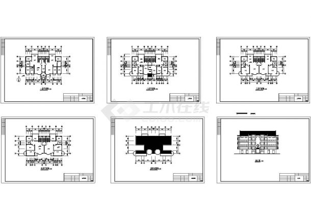 某四层框架结构住宅楼建筑结构图纸 cad版-图一
