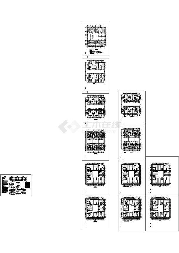 某七层住宅楼建筑施工设计套图CAD版-图二