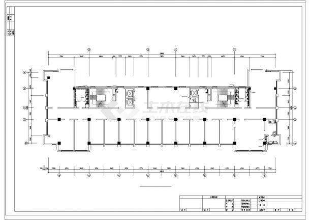 土木工程毕业设计_办公楼设计_某机关高层办公楼给排水给排水cad毕业设计图纸-图一