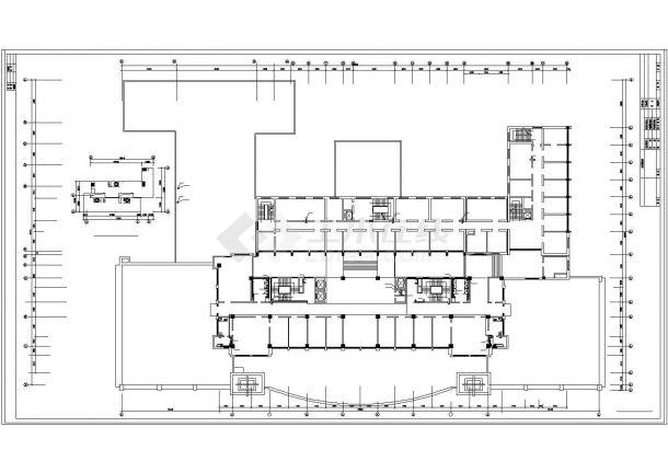 土木工程毕业设计_办公楼设计_某机关高层办公楼给排水给排水cad毕业设计图纸-图二