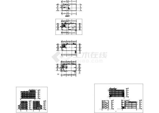 [上海]某地4层科技园全套建筑施工设计cad图(知名公司设计)-图一