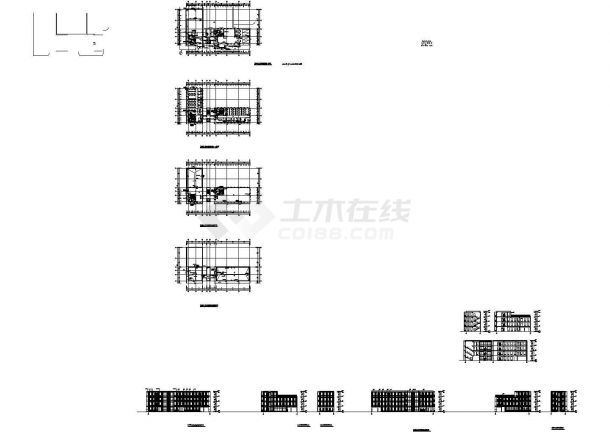 [上海]某地4层科技园全套建筑施工设计cad图(知名公司设计)-图二