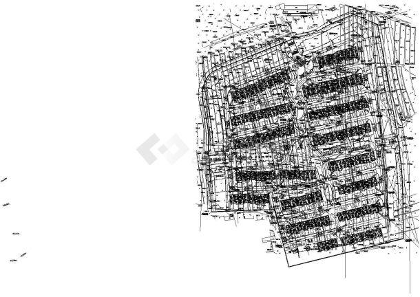 单元住宅小区规划设计 总平面图(cad版本,dwg格式)-图二