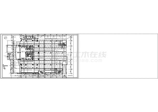 办公楼设计_【湖南】高层办公楼给排水消防设计cad施工图-图二