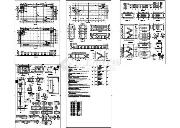 6864.48㎡框架结构正基厂房建筑设计施工图-图一