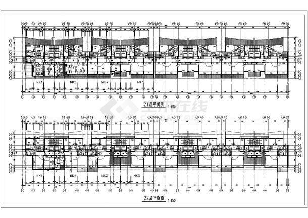 某二十二层住宅楼建筑方案设计图CAD版-图一