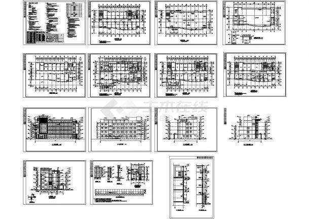 某四层医院门诊楼全套建筑设计施工图-图一
