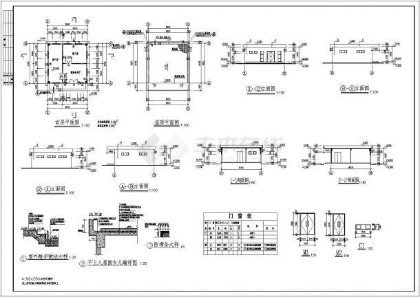 某市医院太平间建筑设计施工图-图一