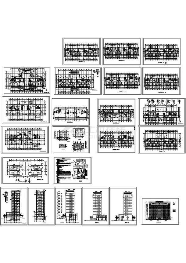 某市大型医院建筑设计施工图-图一