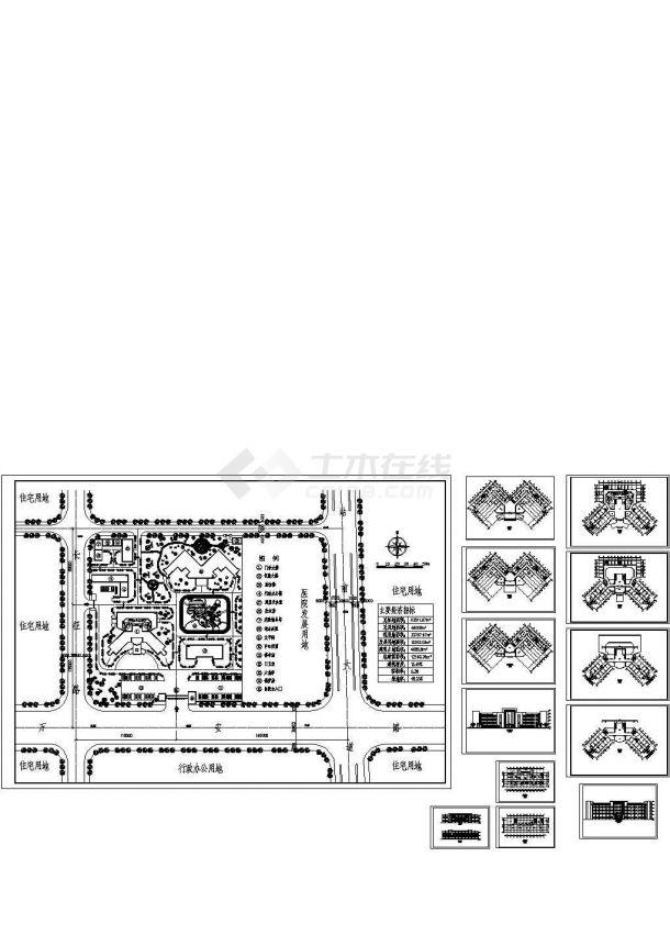 大型专科医院全套建筑设计施工图-图一
