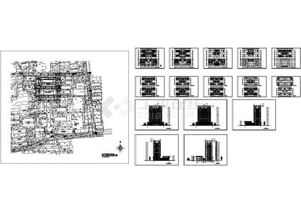 中国药大研究生实验楼全套建筑设计施工图-图一