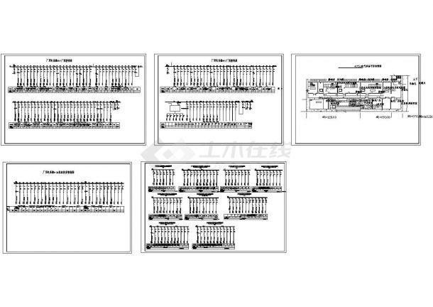 某水电站低压配电盘及平面布置图CAD版-图一