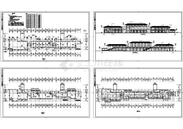 某商业街设计建筑图CAD版-图二