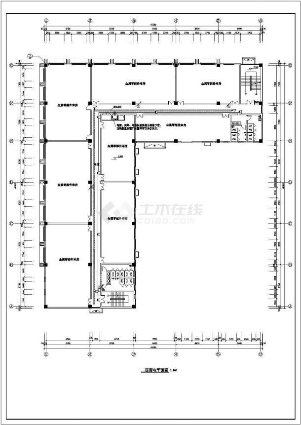 办公楼设计_某1279平方米五层砖混结构办公楼配电设计cad全套电气施工图(含设计说明)-图一