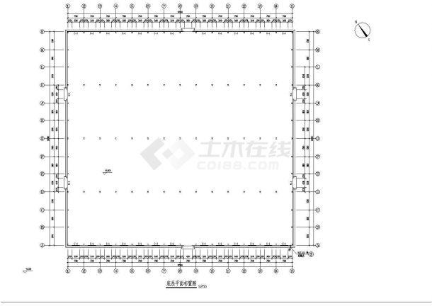 某地大型钢结构厂房建筑施工图纸-图二