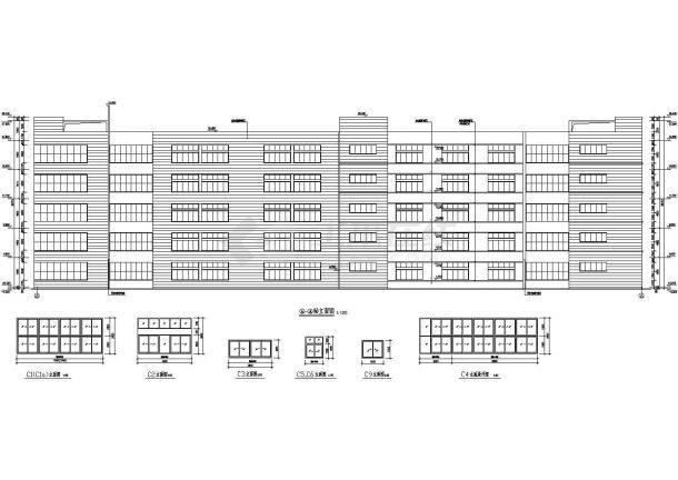 某地大型现代化厂房建筑施工图纸-图二