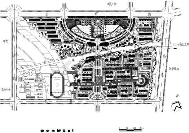 多层小区-规划 设计总平面图-图二