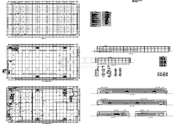 某地2层40560平米钢筋混凝土结构食品加工生产车间建施【平立剖 节点大样图 说明】-图一