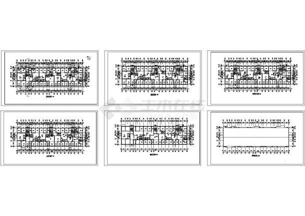 多层框架结构住宅施工完整设计cad图纸-图一