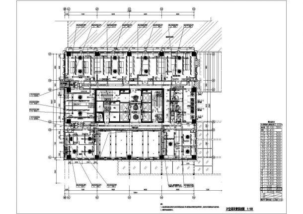 某高层科研实验楼空调通风排烟系统设计cad施工图纸-图二