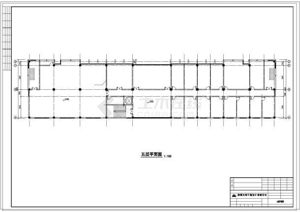 办公楼设计_惠州市五层办公楼混凝土框架结构设计cad施工图-图一