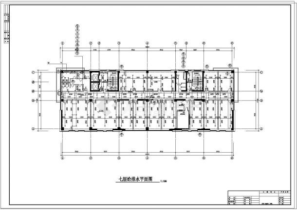 办公楼设计_某11600㎡高层办公楼给排水设计cad施工图及计算书-图一