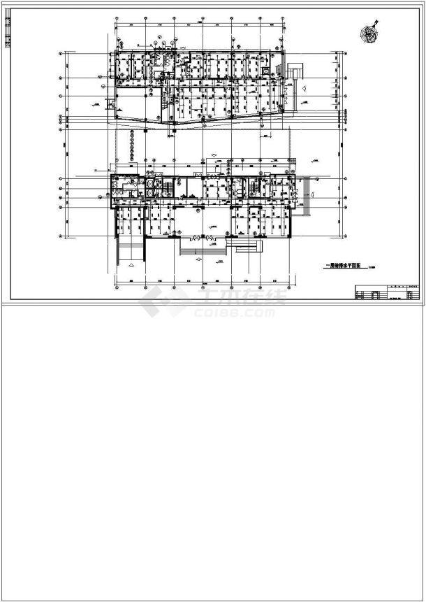 办公楼设计_某11600㎡高层办公楼给排水设计cad施工图及计算书-图二