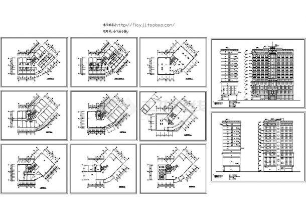 13层城市酒店建筑方案设计图 -图一