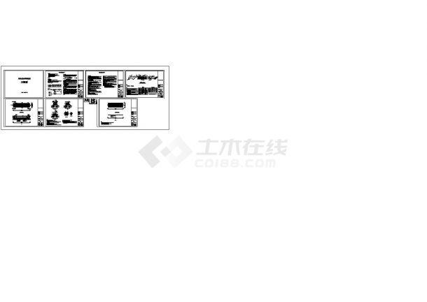 某雨水收集回用系统PP模块设计cad全套施工图(含设计说明)-图一