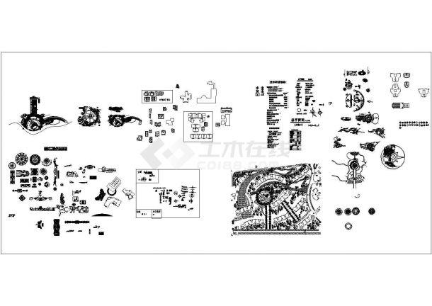 常用的园林景观设计CAD图库、图例合集(标注详细,种类齐全)-图一