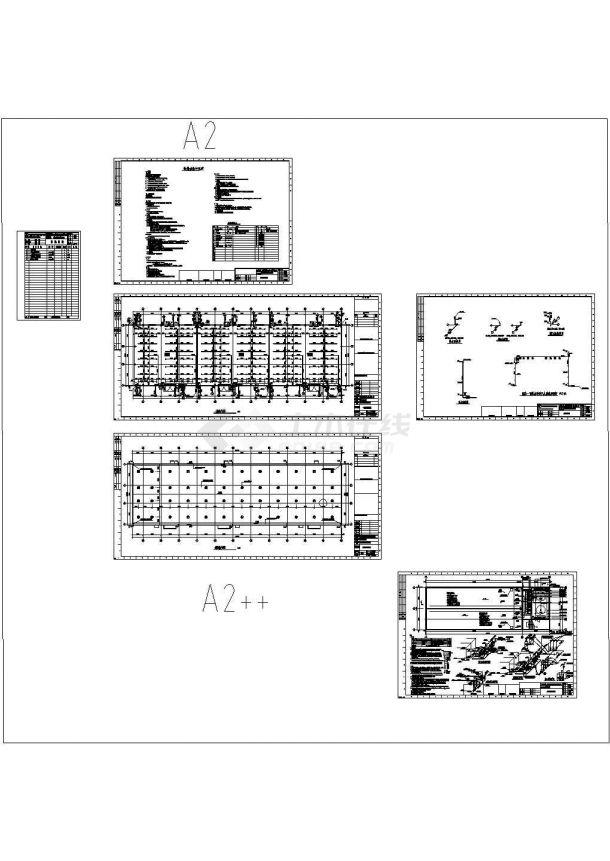 某甲类仓库泡沫雨淋及喷淋消火栓泵房给排水设计cad全套施工图纸(含设计说明)-图一