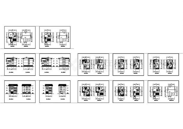 某村镇多层住宅楼施工cad方案资料-图一