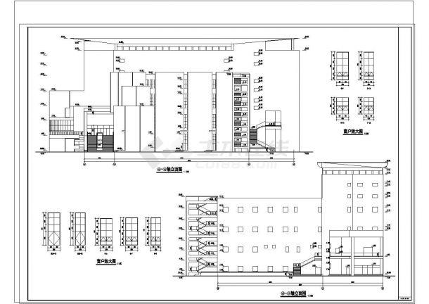 某2.4万平米七层文化馆[设游泳馆影剧院]建施图纸-图一