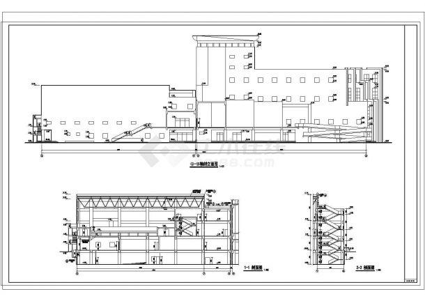某2.4万平米七层文化馆[设游泳馆影剧院]建施图纸-图二