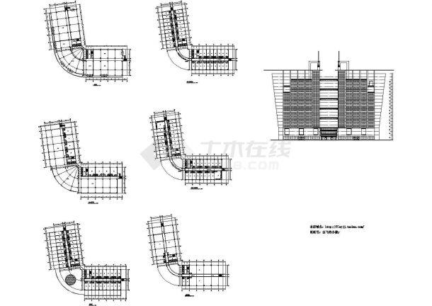 长70米 宽28.5米 18层V形小县城酒楼建筑方案设计图-图一