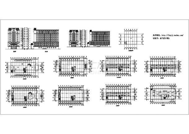 长53米 宽20米 -1+10层酒店建筑方案设计图-图一
